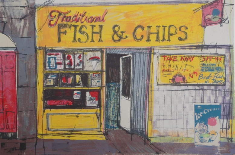 Fish and Chips 29cm x 44cm
